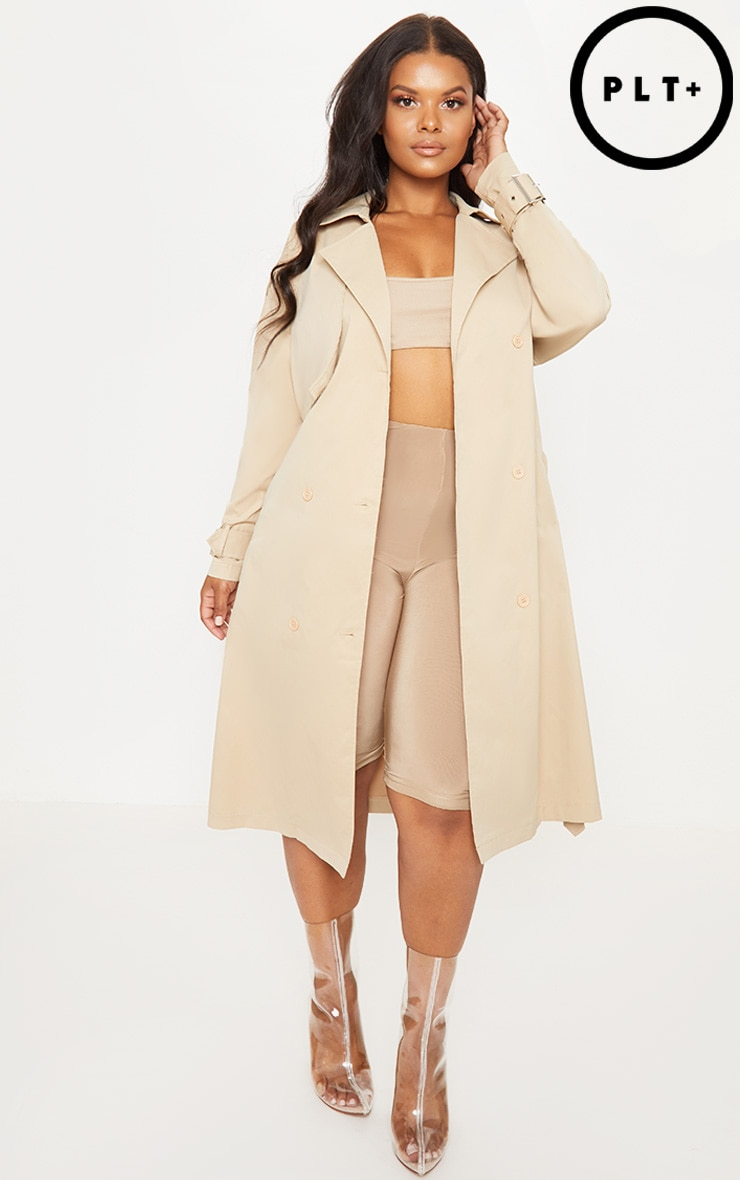 PLT PLUS - TRENCH COAT GRIS PIERRE