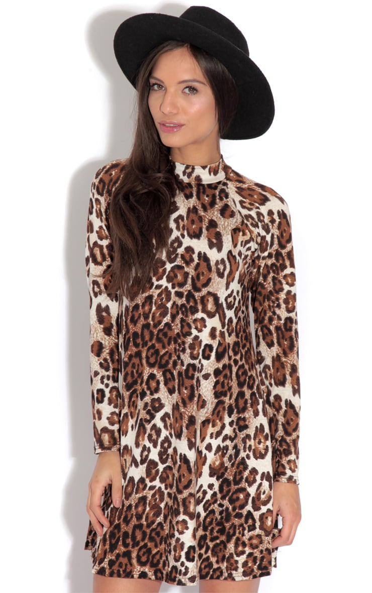 Bella Leopard Print Swing Dress 1