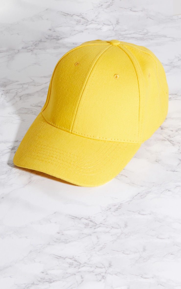 Yellow Baseball Cap 3