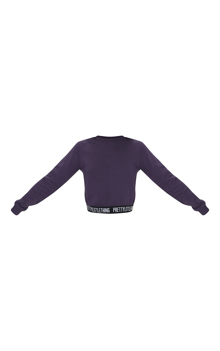 PRETTYLITTLETHING Petite Navy Lounge Sweat Top 5