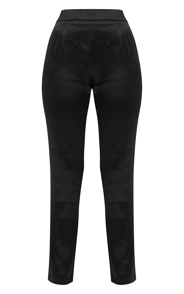 Black Hammered Satin Trousers 3