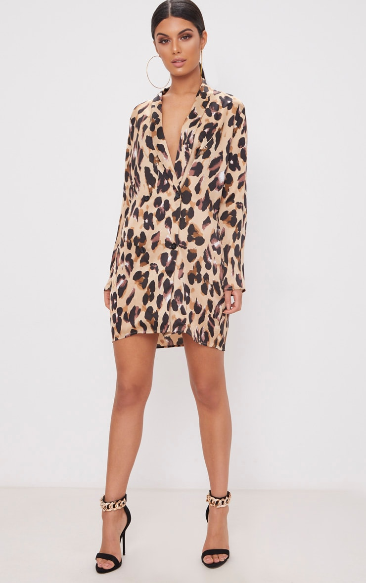 Leopard Oversized Loose Fit Blazer  Dress 4