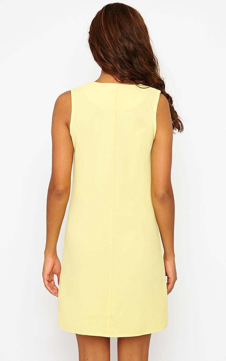 Jadako Yellow Sleeveless Loose Fit Square Neck Dress 2