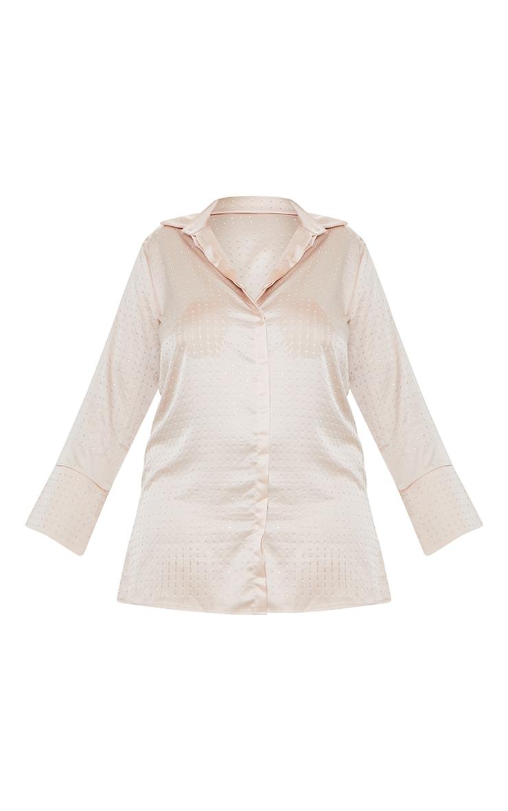 Plus Pink Sparkle Oversized Shirt Dress 5