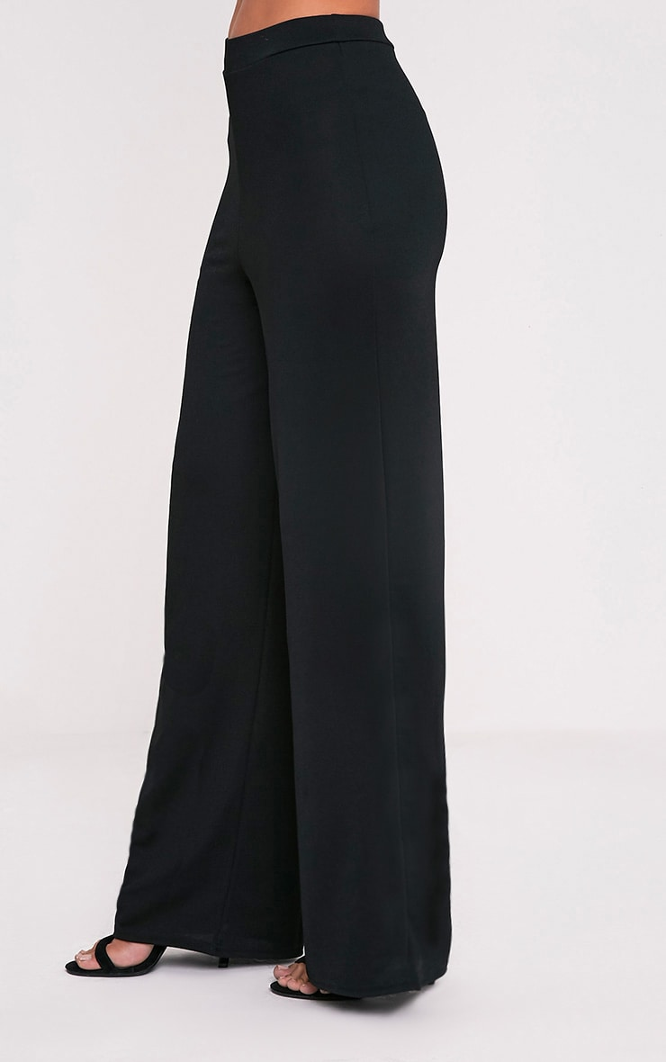 Solomon Black Crepe Pants 4