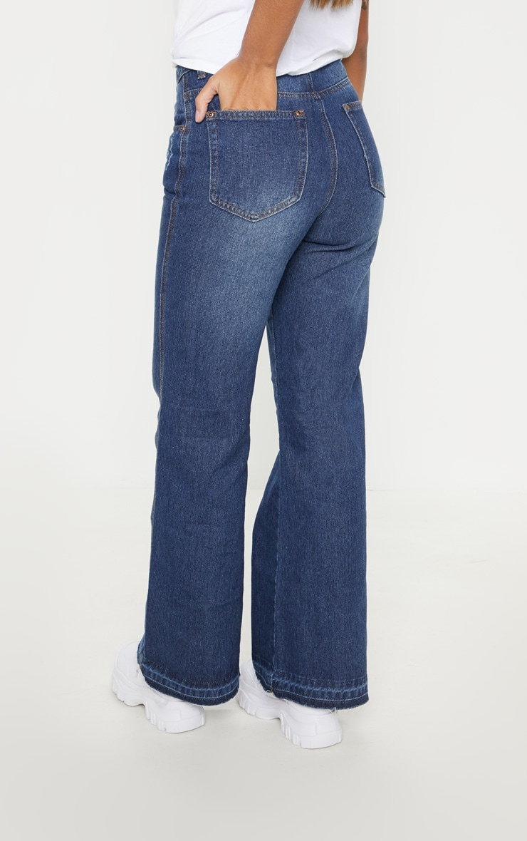 Dark Wash Wide Leg Jean  4