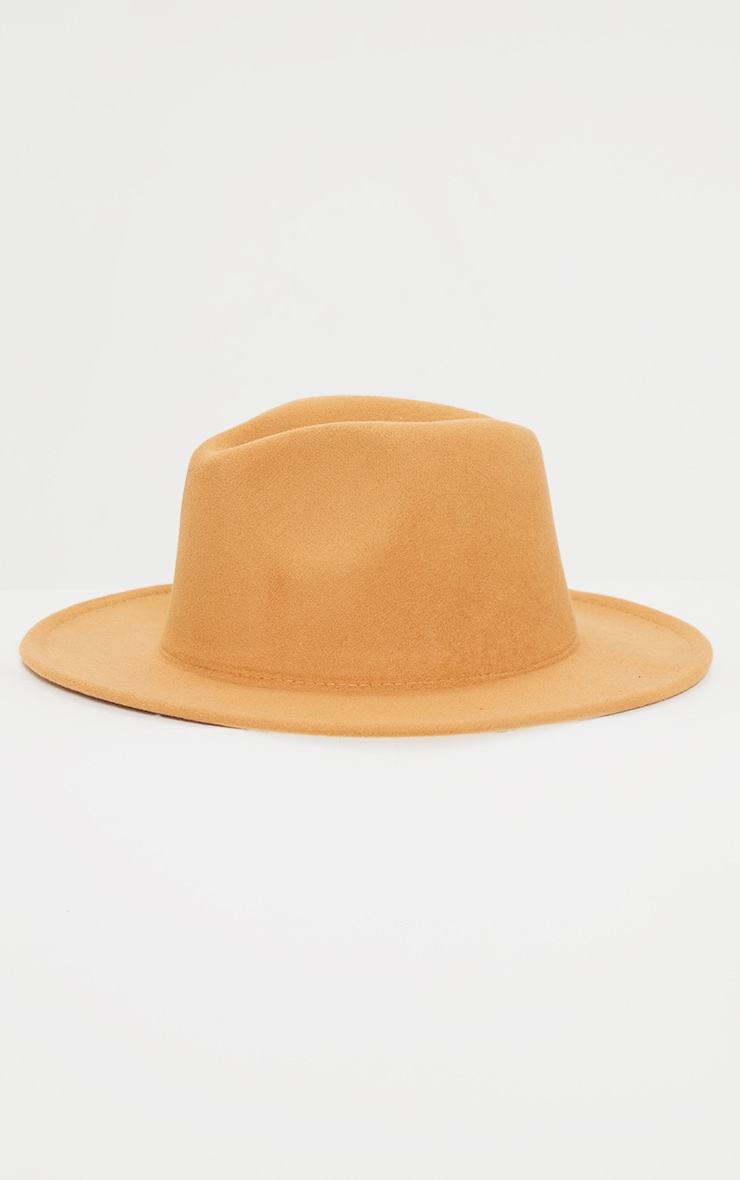 Tan Fedora Hat 2