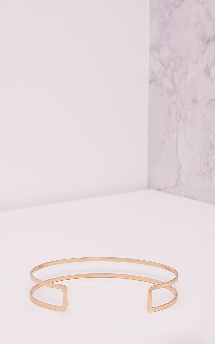 Kandia Gold Cut Out Metal Choker 4