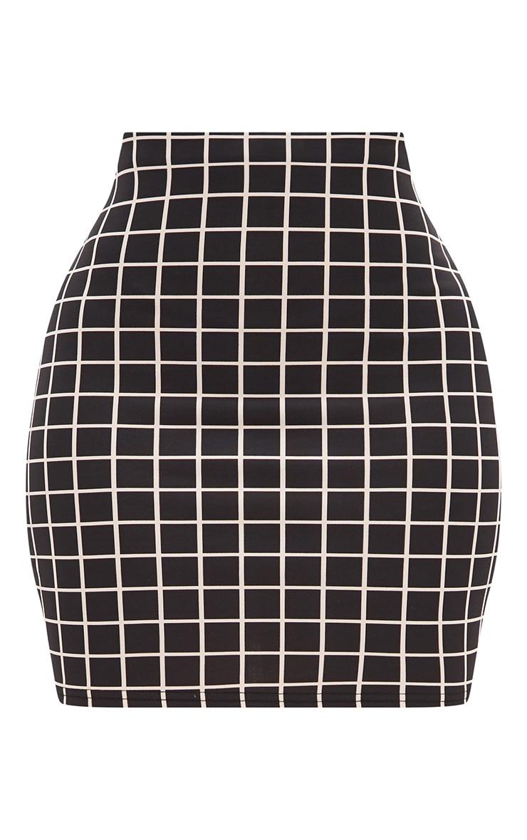 Shape Black Check Mini Skirt Co-ord 3
