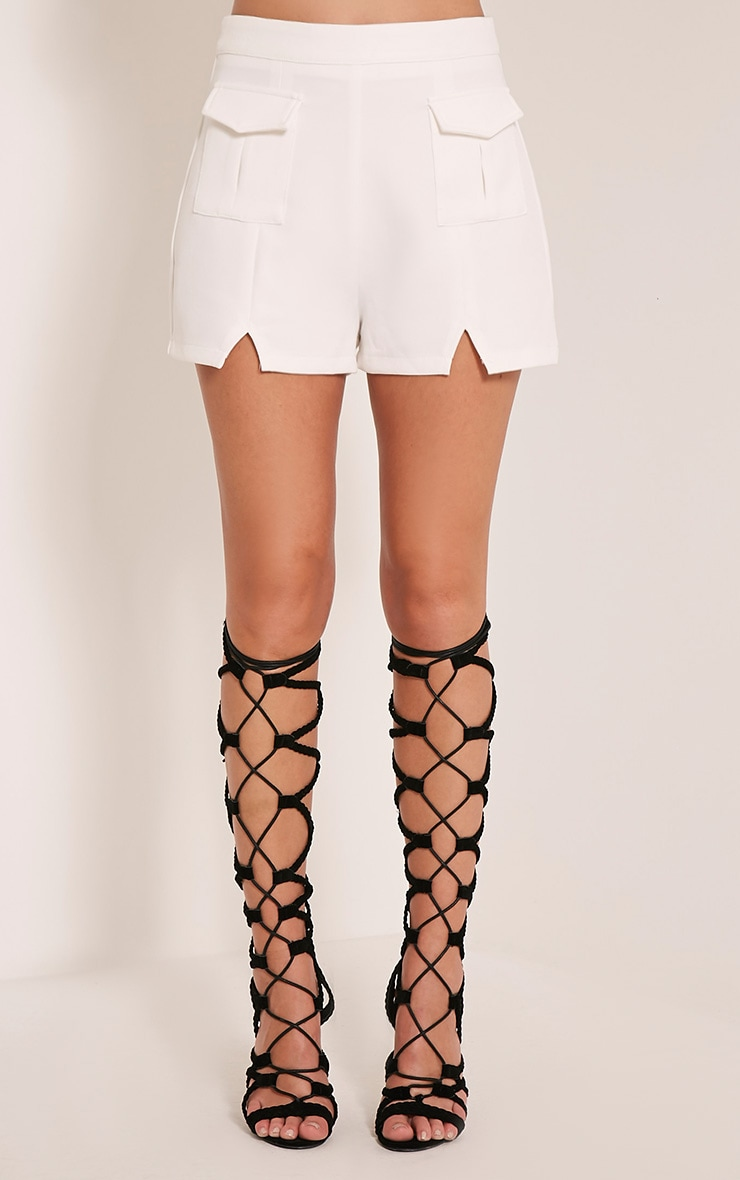 Jenie Cream Utility Shorts 3