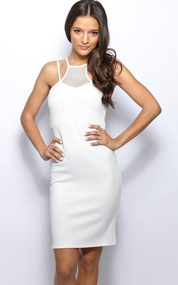 Mariah White Lace Top Dress 4