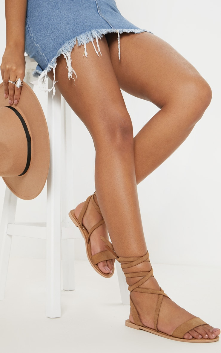 Tan Basic Leather Sandal 1