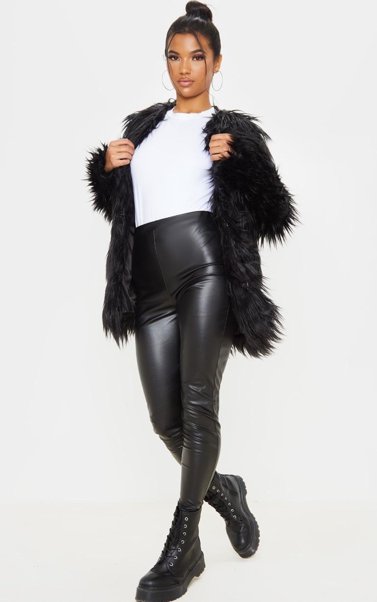 Amaria veste en fausse fourrure à poils longs 4