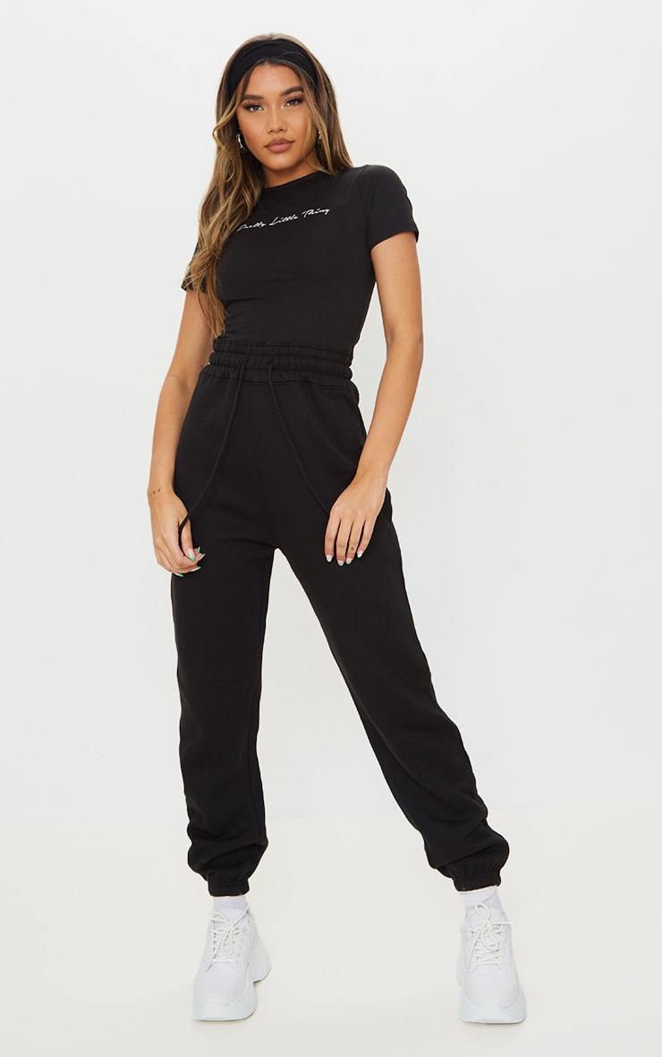 PRETTYLITTLETHING Black Short Sleeve Jumpsuit 3