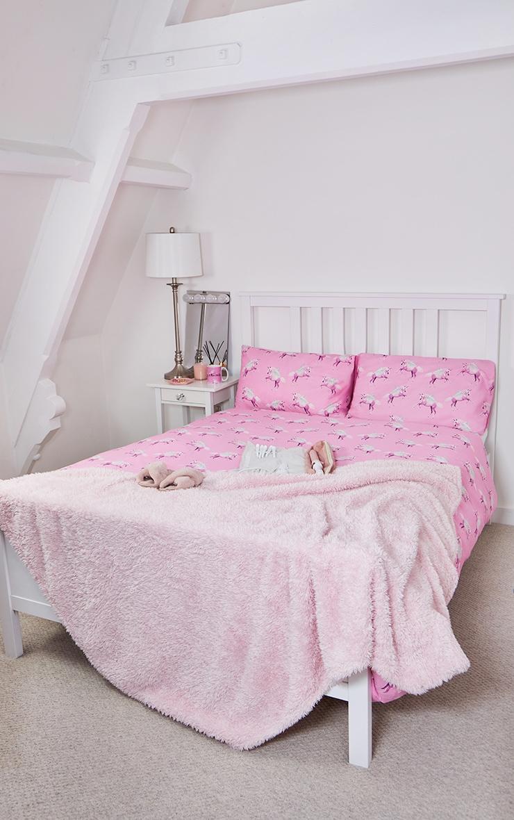 PRETTYLITTLETHING Pink Unicorn Double Duvet Set 1