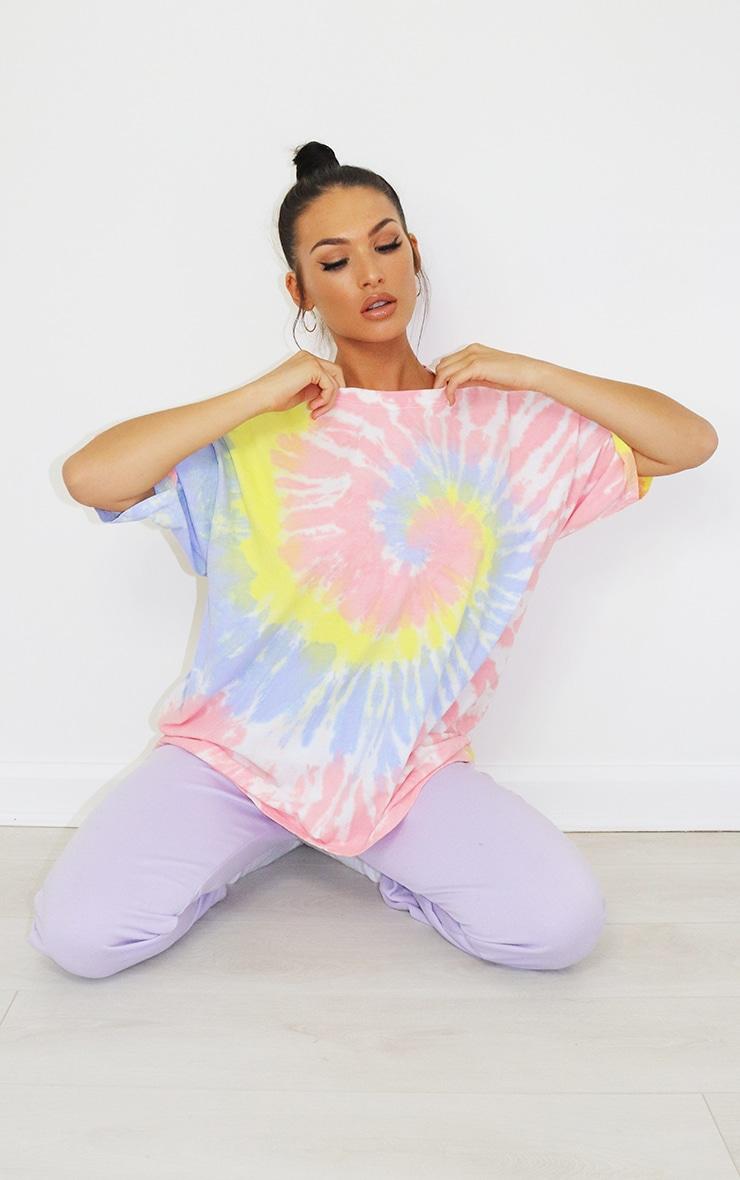 Baby Pink Tie Dye Oversized T Shirt 4