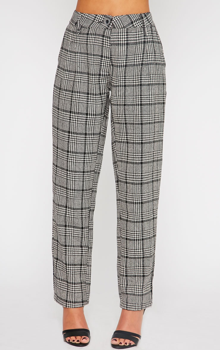 Amelia Dogtooth Tweed High Waist Trousers 3