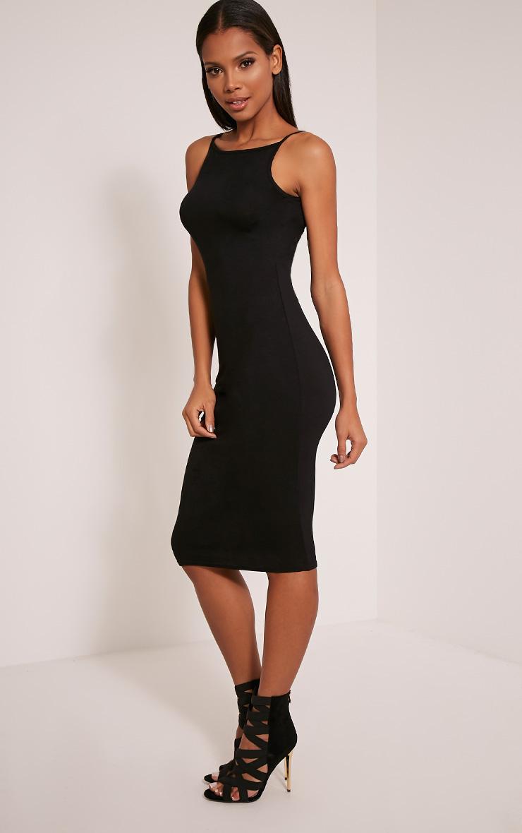 Basic robe midi à col nageur noire 3