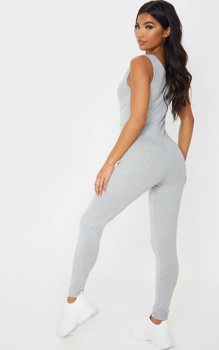 Grey Binding Scoop Neck Jumpsuit 2