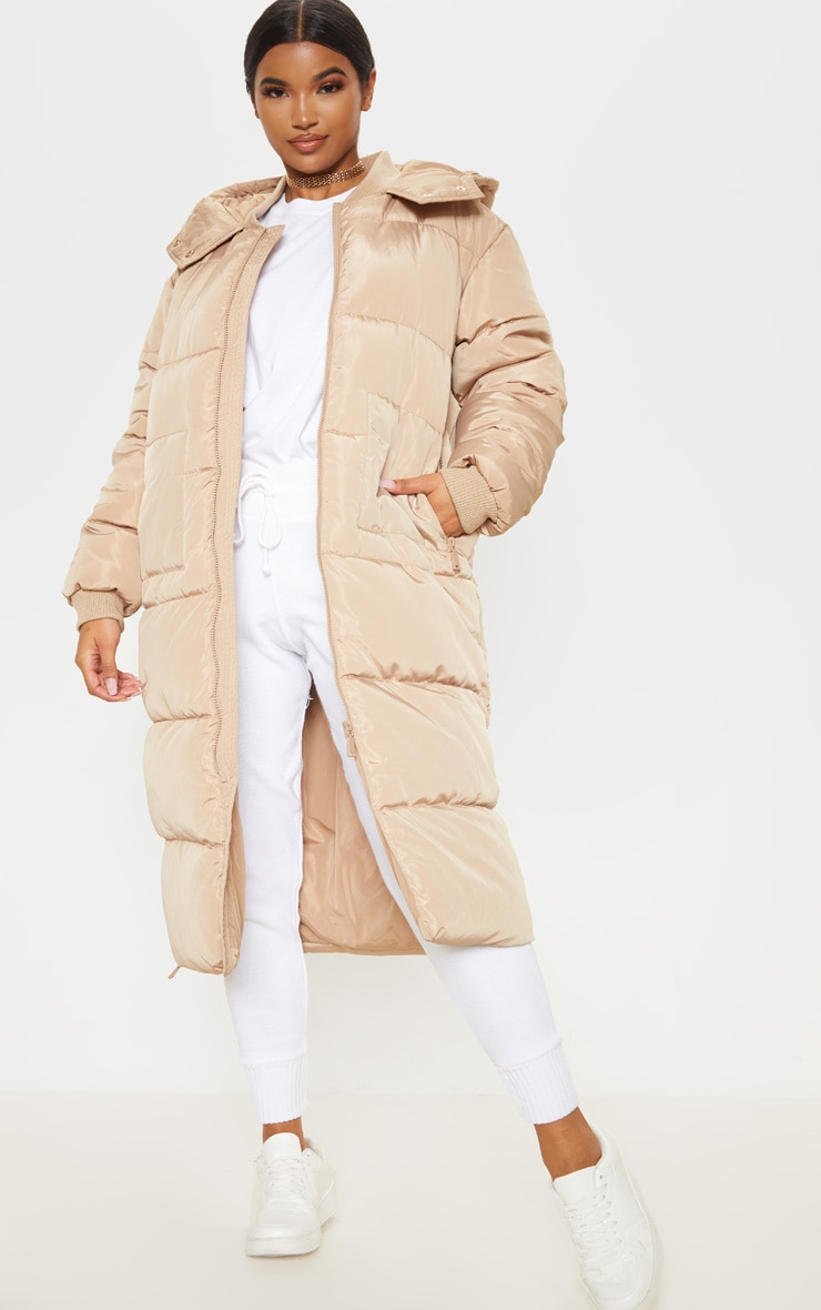 Stone Maxi Hooded Puffer image 1