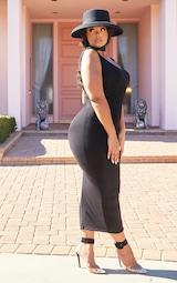 Plus Black Jersey Scoop Neck Midaxi Dress 4