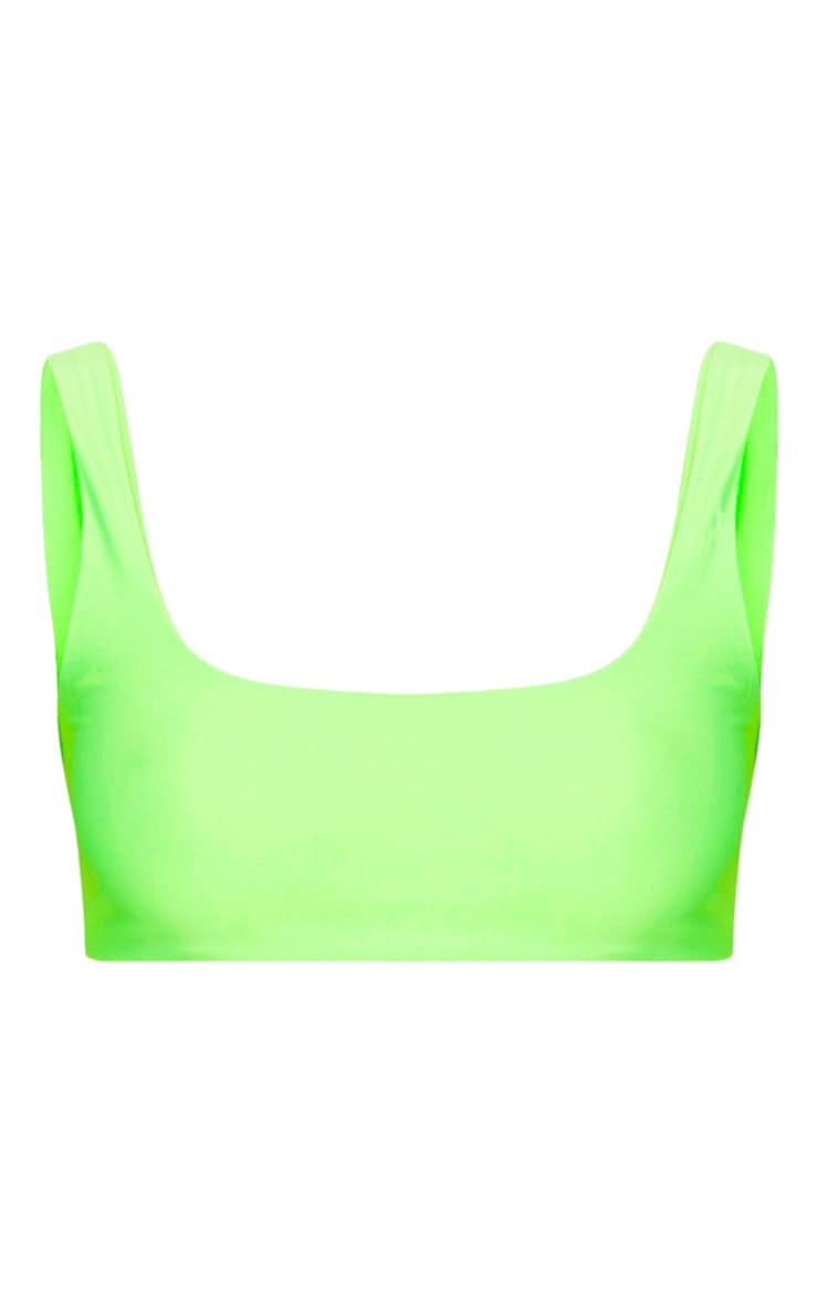 Lime Mix & Match Scoop Neck Top 1