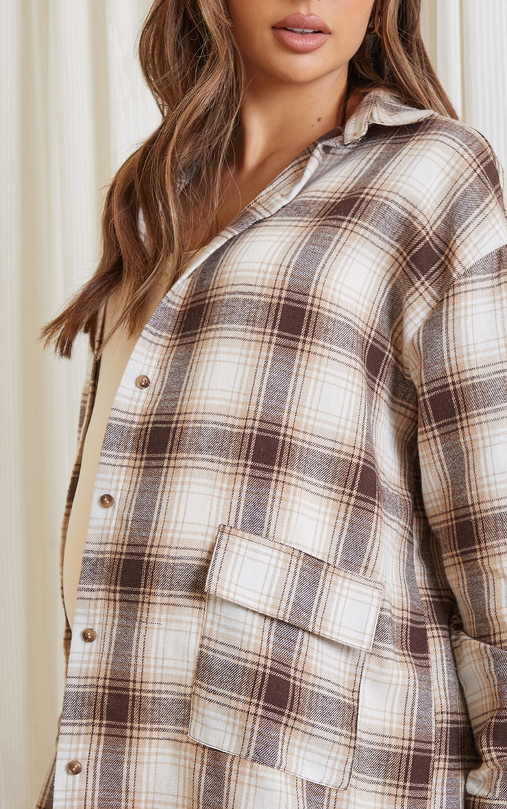 Maternity Stone Checked Oversized Shirt 4