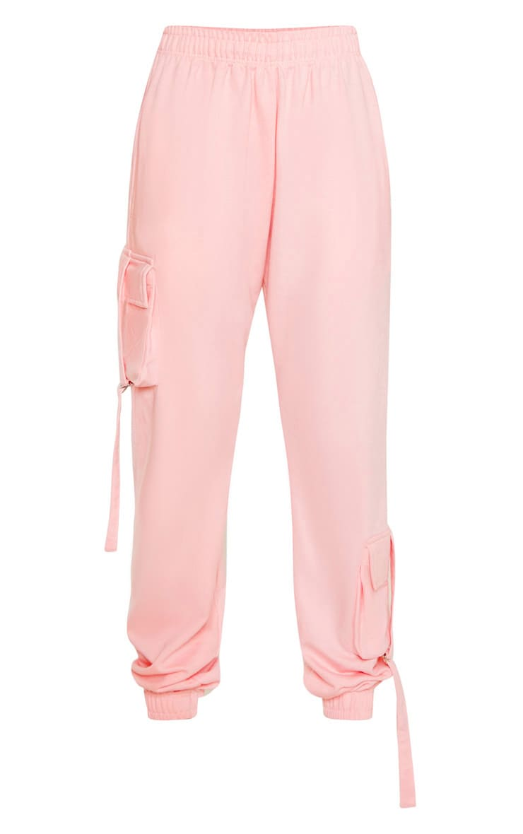 Tall Baby Pink Cargo Detail Casual Jogger 3