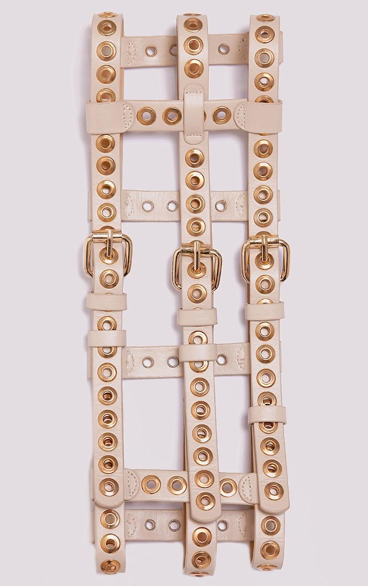 Ryo ceinture à détail œillets couleur chair 3