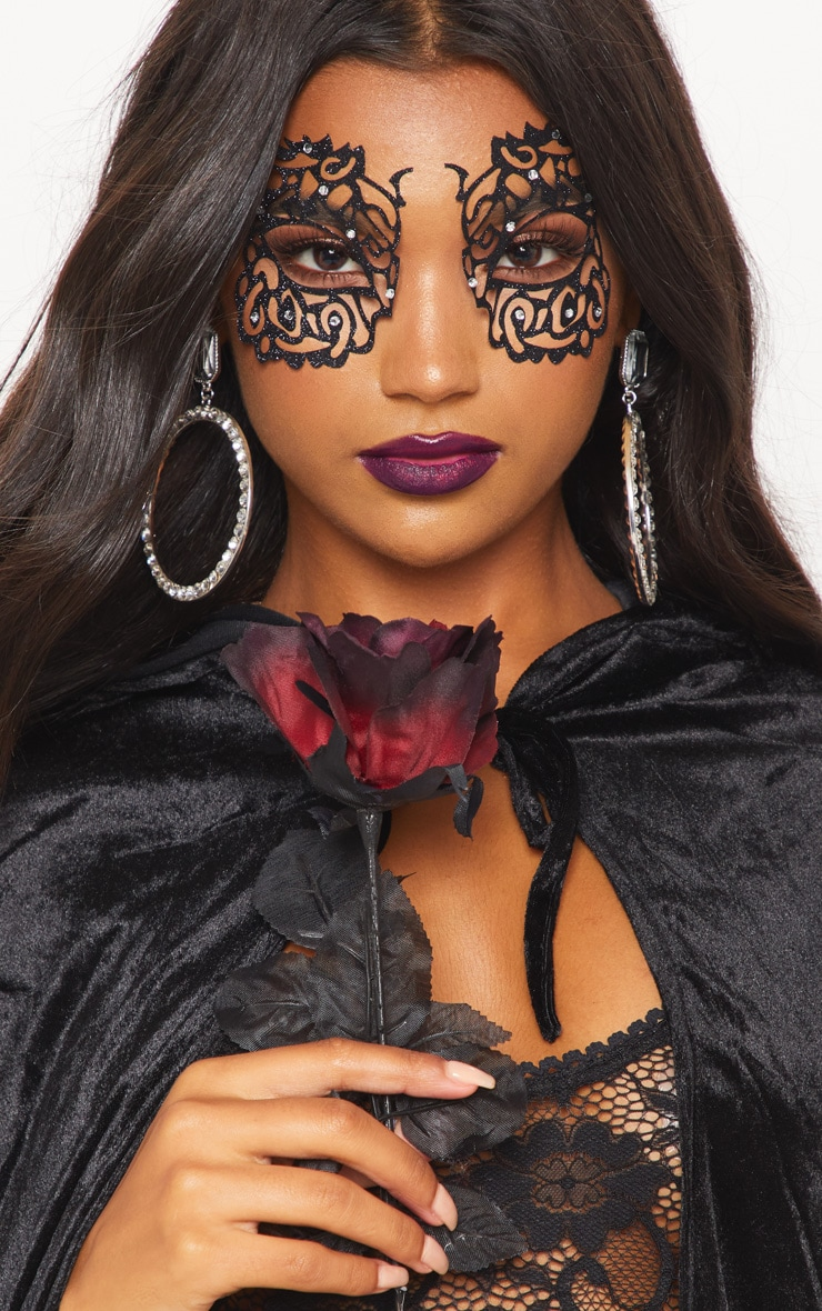 Black Masquerade Mask Face Sticker 1