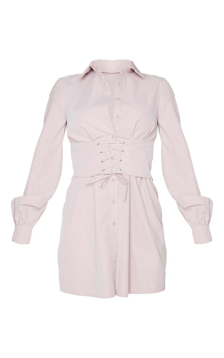 Tall Blush Corset Detail Shirt Dress 6