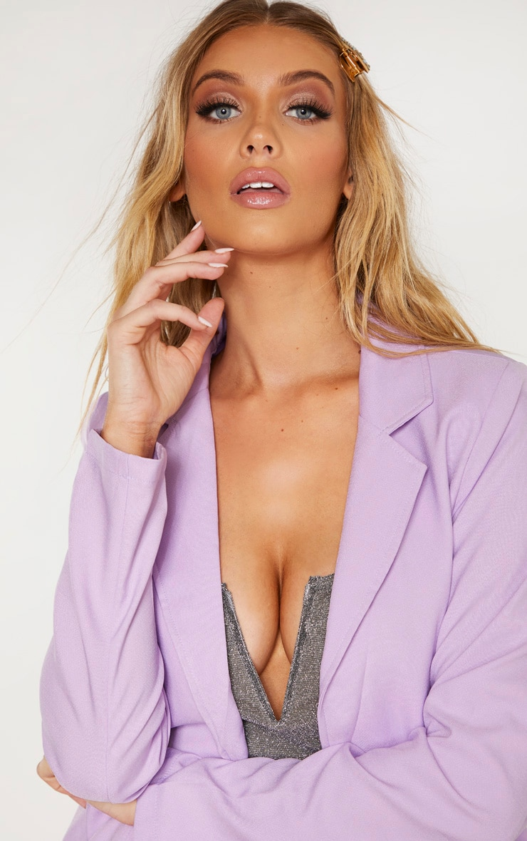 Tall Lilac Fitted Blazer  5