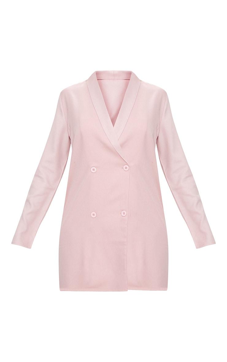 Dusty Pink Oversized Blazer Shift Dress 3