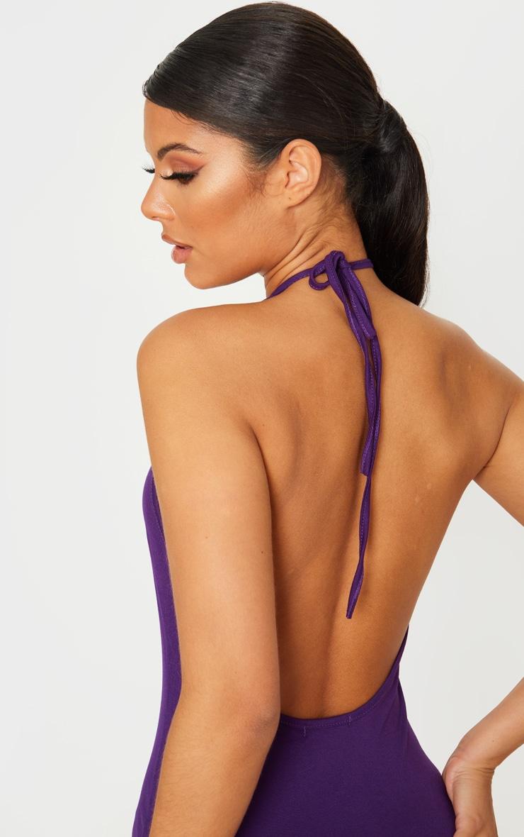 Purple Basic Halterneck Bodycon Dress 5