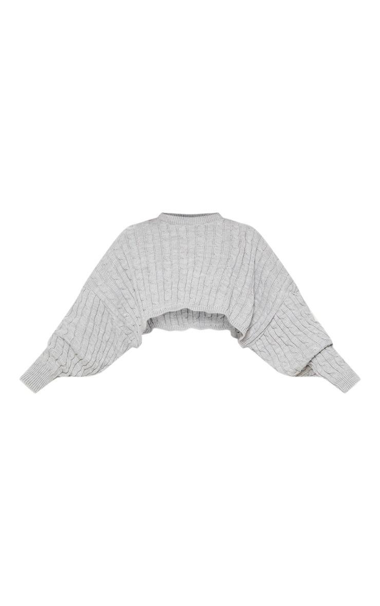 Grey Cable Knit Crop Jumper & Legging Set 3