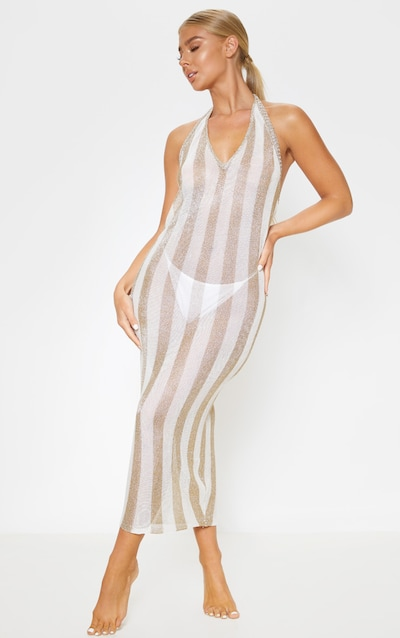 Gold Knitted Metallic Dress