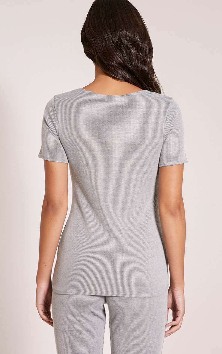 Rosie Grey Fine Ribbed T-Shirt 2