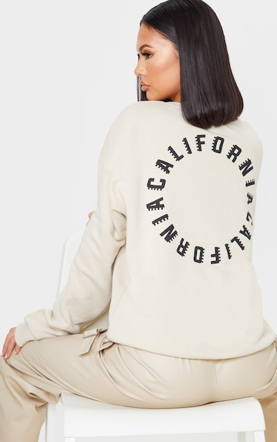 Sand California Oversized Slogan Sweater