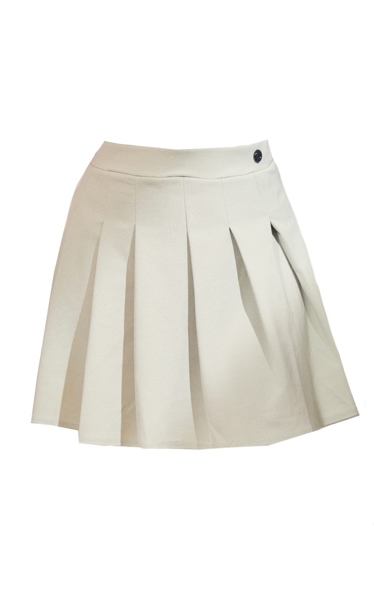 Plus Sage Green Pleated Side Split Tennis Skirt 6