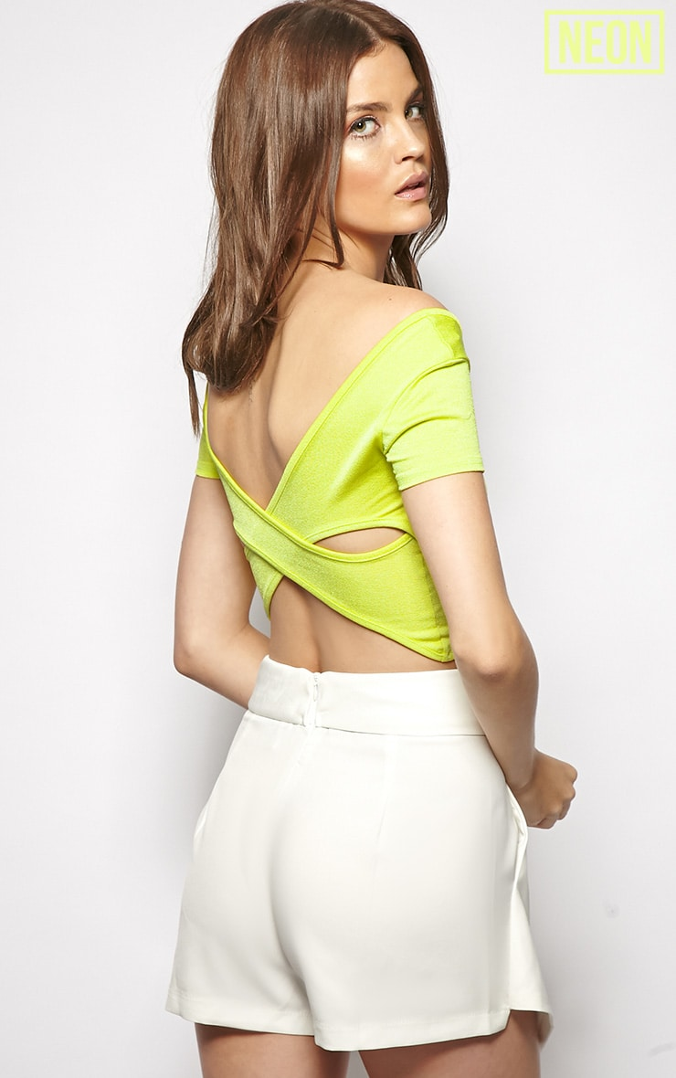 Bailey Green Cut Out Crop Top 1