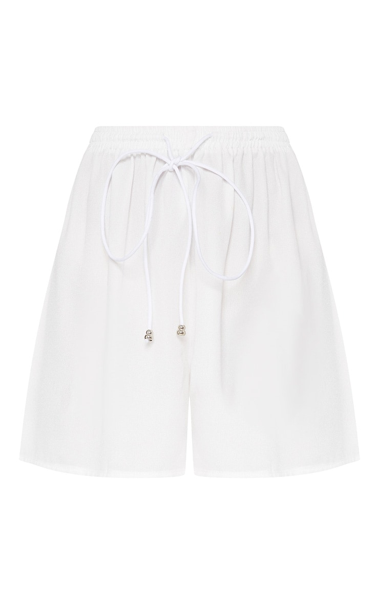 White Petite Floaty Shorts 3