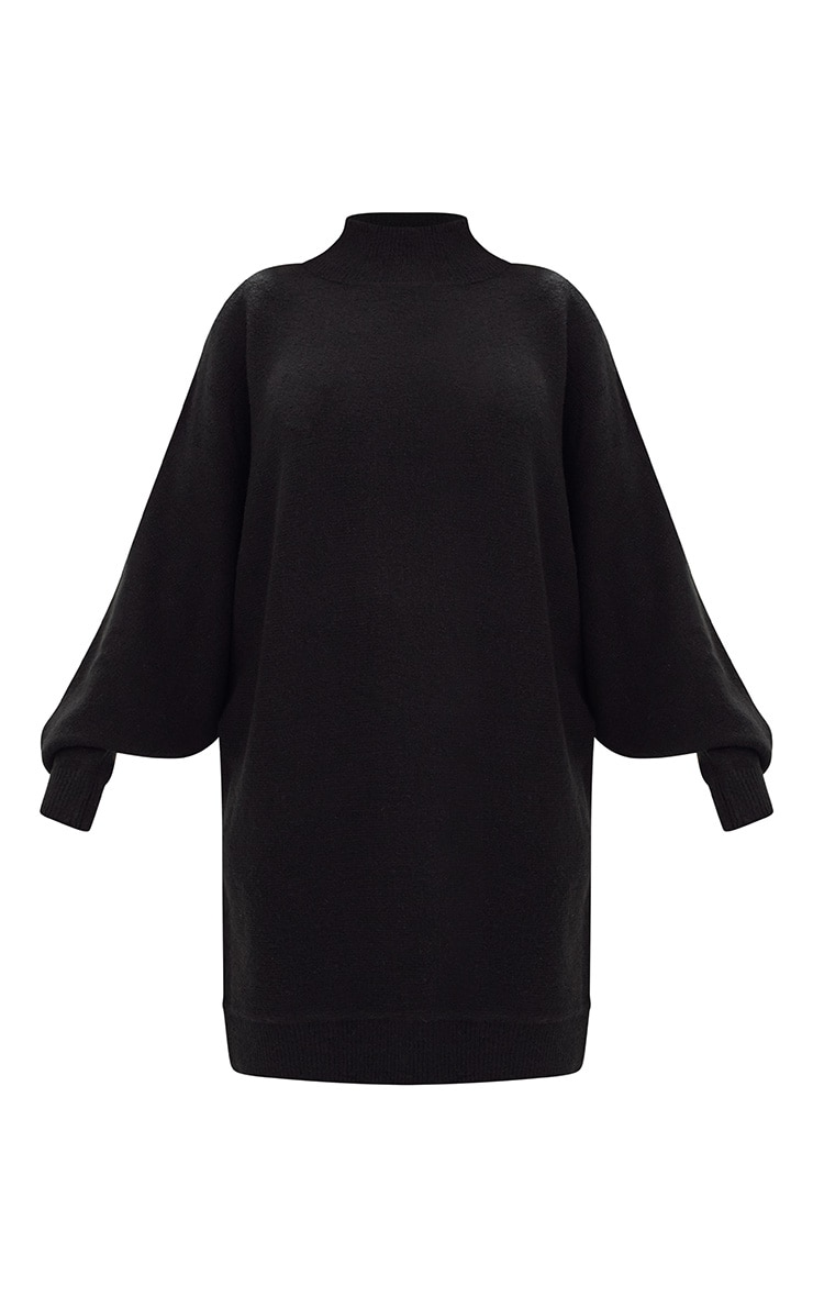 Black Oversized Jumper Dress 3
