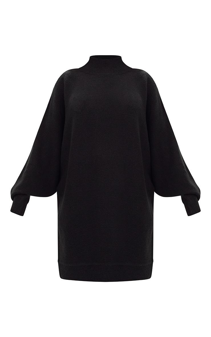 Robe pull oversized noire 3
