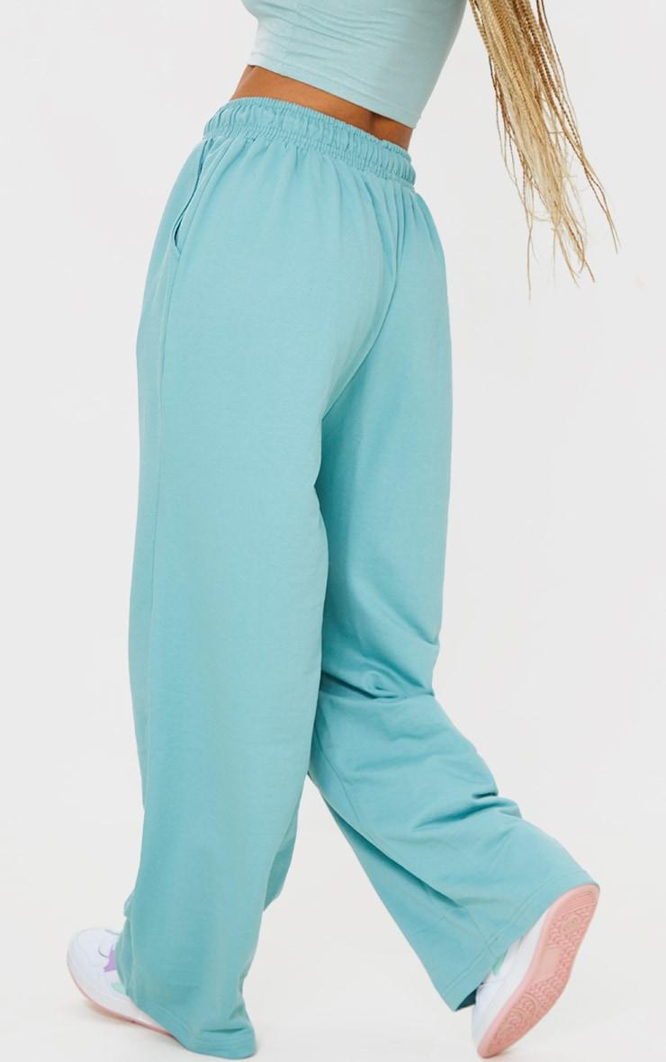 Mint Drawstring Slouch Wide Leg Pants 3