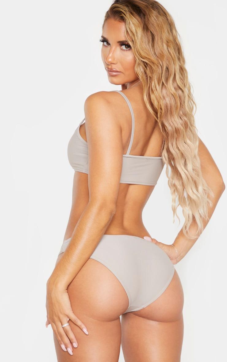 Grey Skinny Strap Bikini Top 2