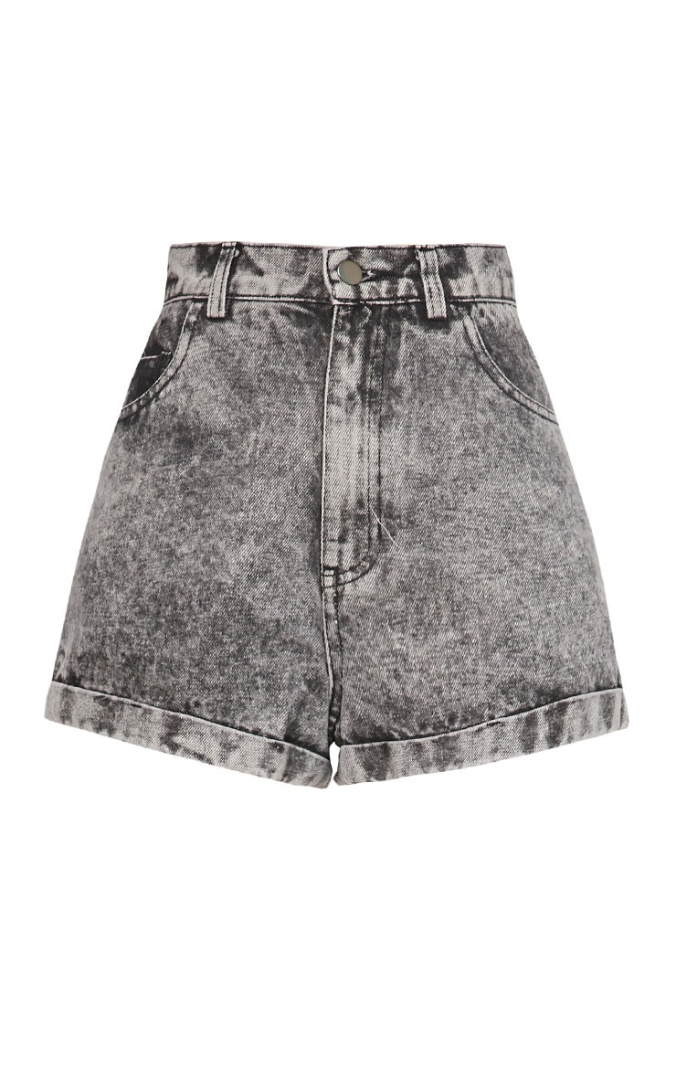 Karina Charcoal Acid Wash Shorts 5
