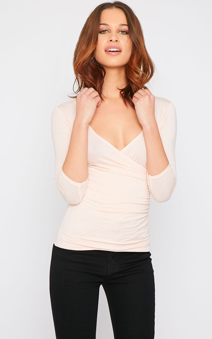 Naila Nude Wrap Over Top  10