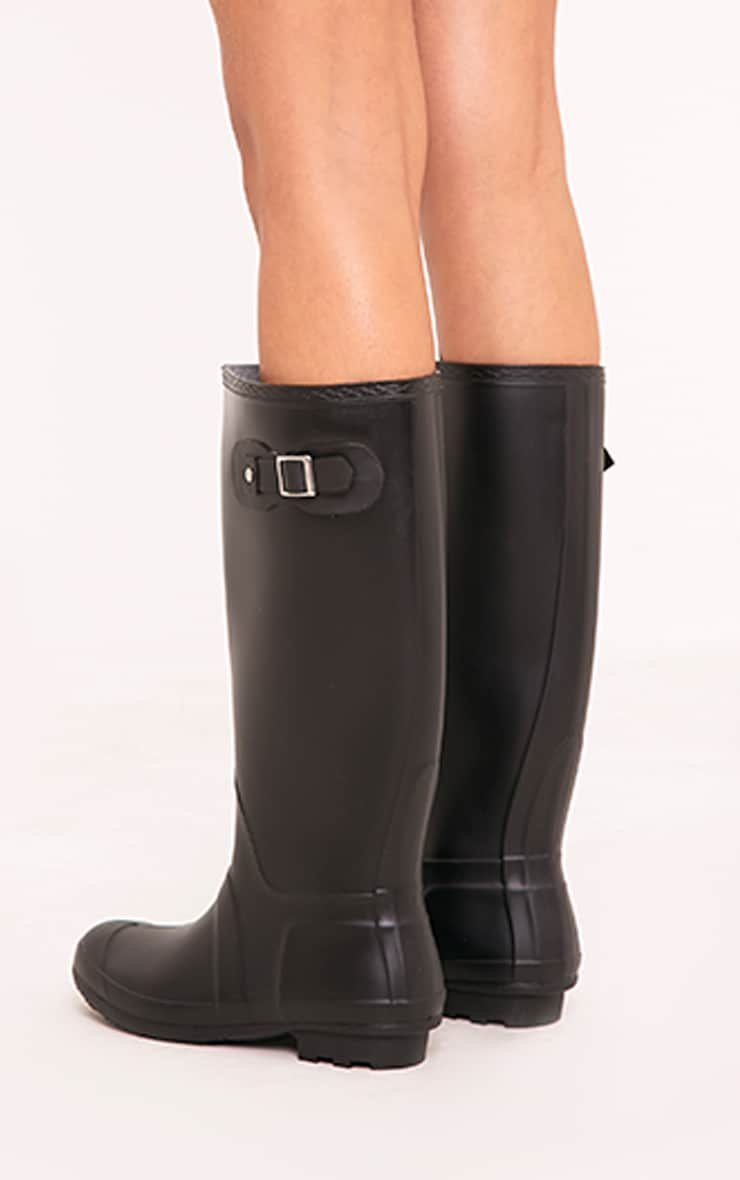 Martina Black Long Rain Boots 4