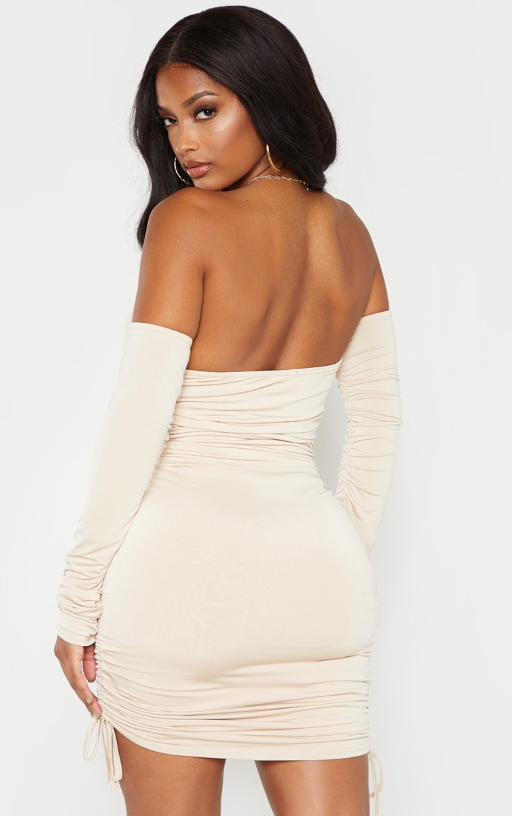 Shape Stone Slinky Ruched Side Bodycon Dress 2