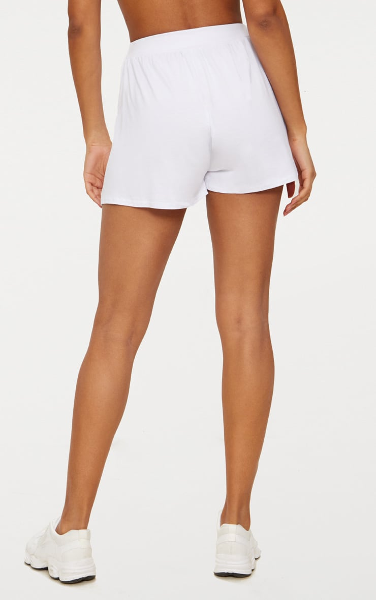 Lucilla White Jersey Floaty Shorts 4